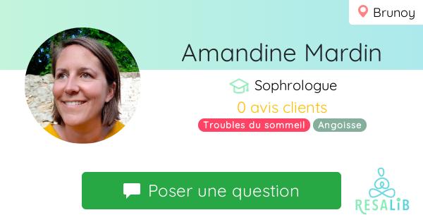 Prenez rendez-vous avec Amandine Mardin