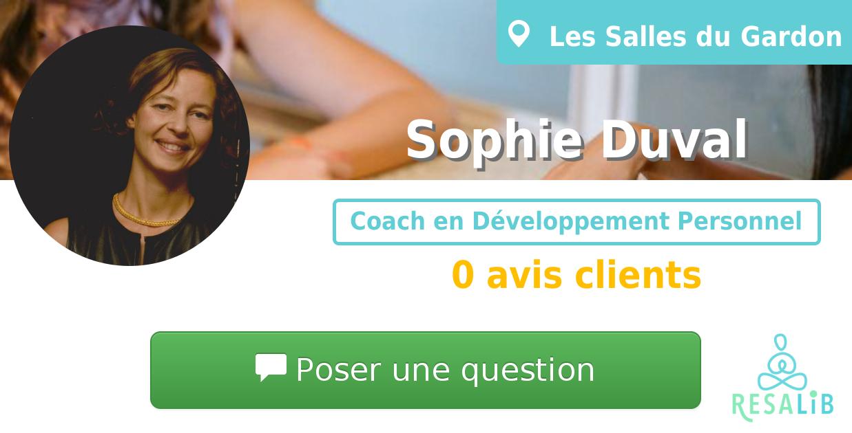Prenez rendez-vous avec Sophie Duval