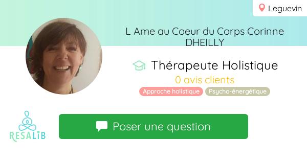 Prenez rendez-vous avec Corinne Dheilly