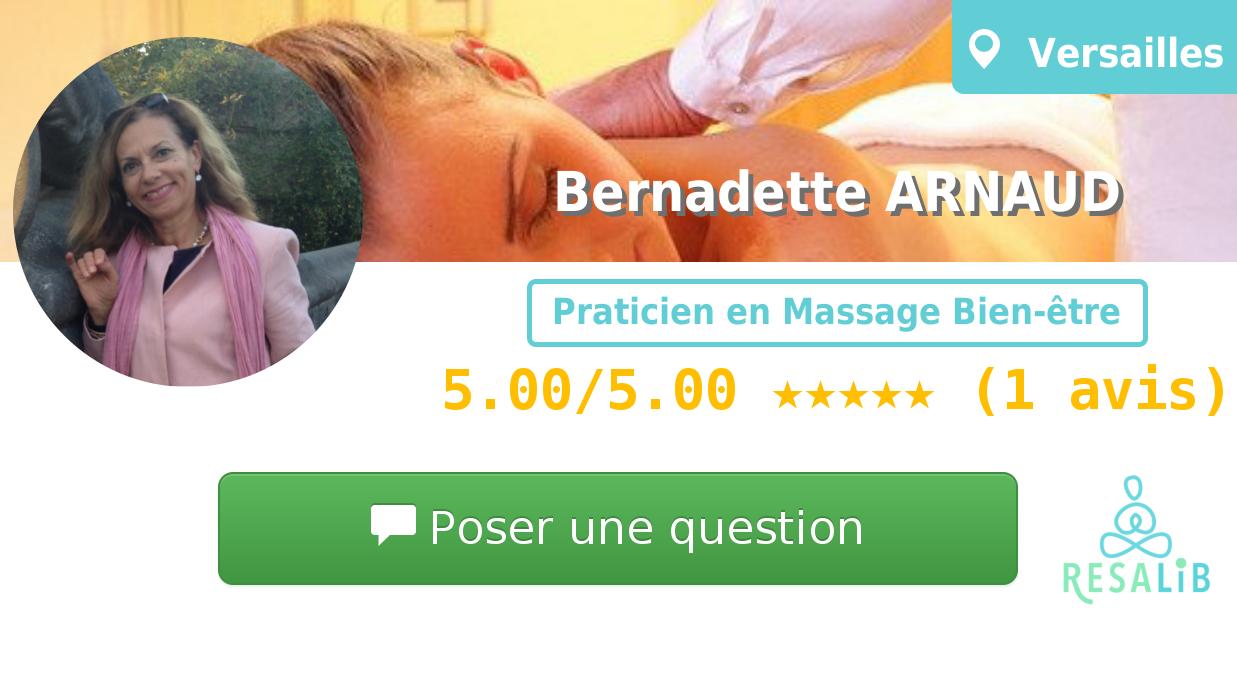 Prenez rendez-vous avec Bernadette ARNAUD