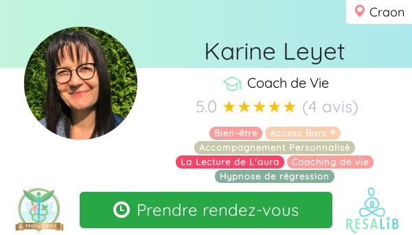 Consulter le profil de LEYET KARINE sur Resalib l'annuaire des médecines douces et des thérapeutes