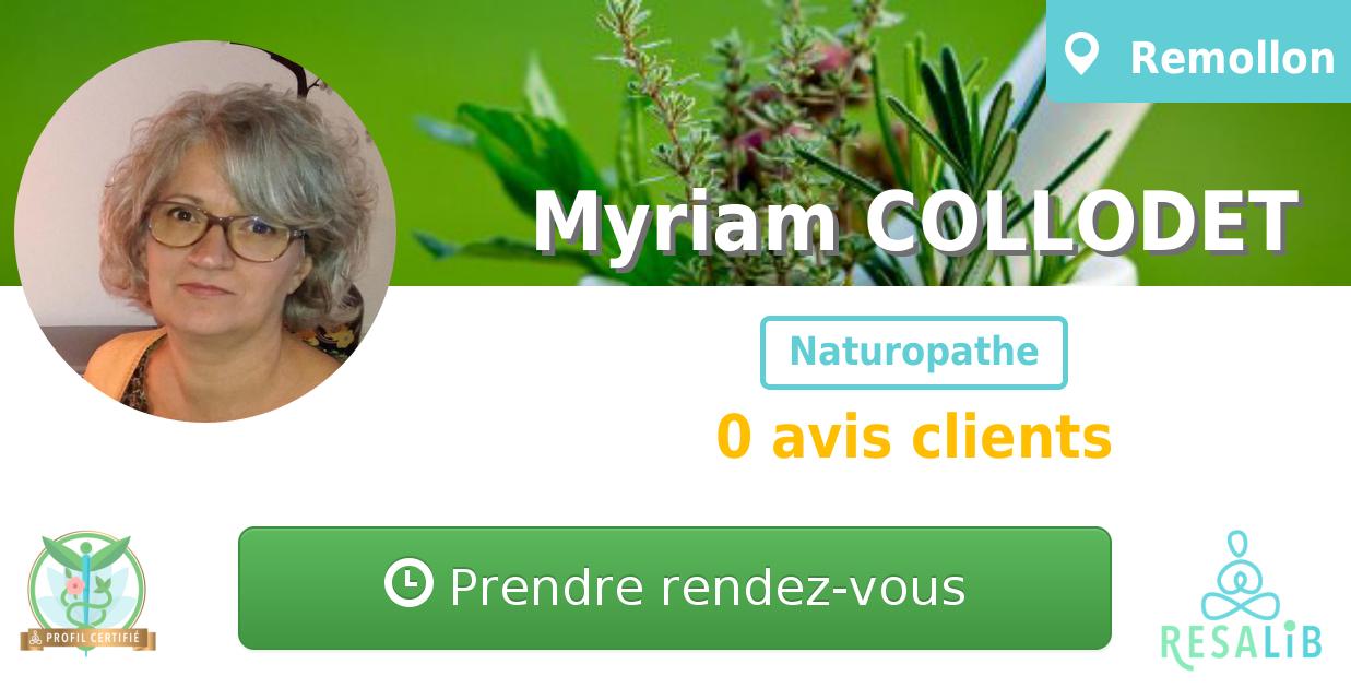 Consulter le profil de Myriam COLLODET