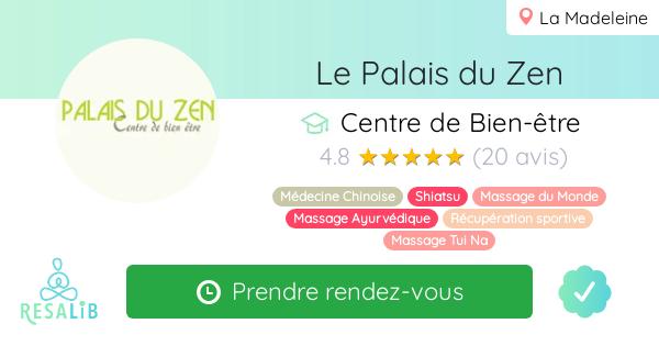 Consulter le profil de Le Palais du Zen sur Resalib l'annuaire des médecines douces et des thérapeutes