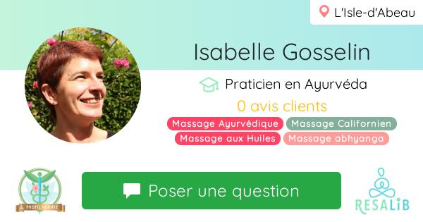 Prenez rendez-vous avec Isabelle Gosselin
