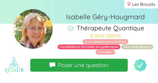 Prenez rendez-vous avec Isabelle Géry-Haugmard