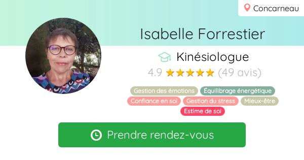 Prenez rendez-vous avec Isabelle Forrestier