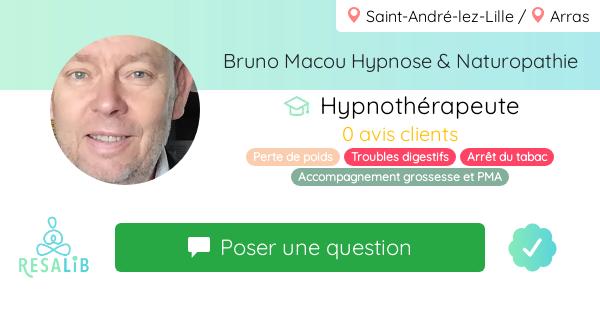 Prenez rendez-vous avec Bruno MACOU