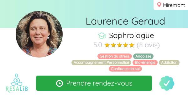 Consulter le profil de Laurence Geraud sur Resalib l'annuaire des médecines douces et des thérapeutes