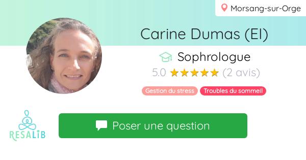 Prenez rendez-vous avec Carine Dumas