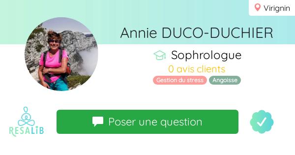 Consulter le profil de Annie DUCO-DUCHIER  sur Resalib l'annuaire des médecines douces et des thérapeutes