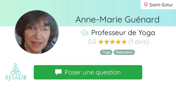 Consulter le profil de Anne-Marie Guénard sur Resalib l'annuaire des médecines douces et des thérapeutes