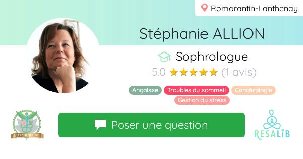 Consulter le profil de Stéphanie ALLION sur Resalib l'annuaire des médecines douces et des thérapeutes