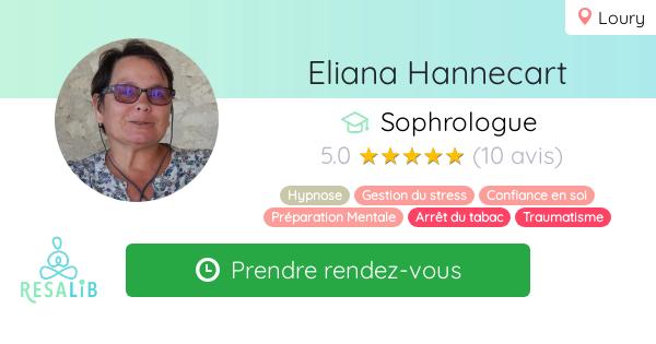 Consulter le profil de Eliana Hannecart sur Resalib l'annuaire des médecines douces et des thérapeutes