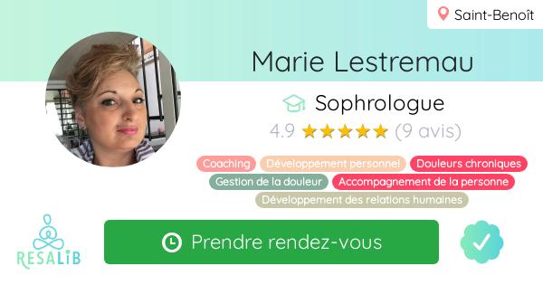 Consulter le profil de Marie Lestremau sur Resalib l'annuaire des médecines douces et des thérapeutes