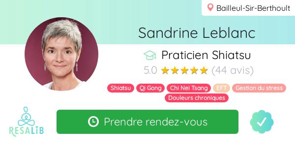 Consulter le profil de Sandrine Leblanc sur Resalib l'annuaire des médecines douces et des thérapeutes