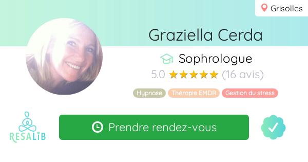 Consulter le profil de Graziella Cerda sur Resalib l'annuaire des médecines douces et des thérapeutes