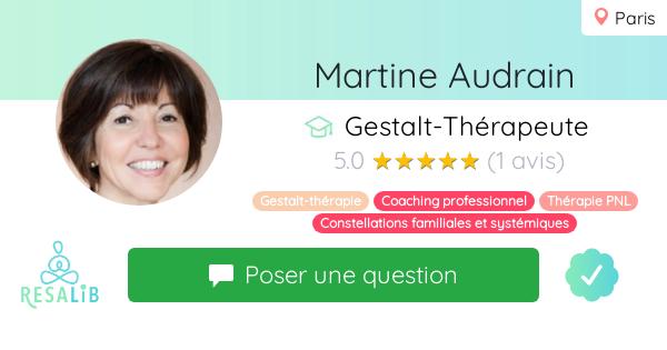 Prenez rendez-vous avec Martine Audrain