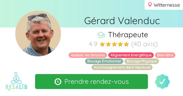 Consulter le profil de Gérard Valenduc sur Resalib l'annuaire des médecines douces et des thérapeutes