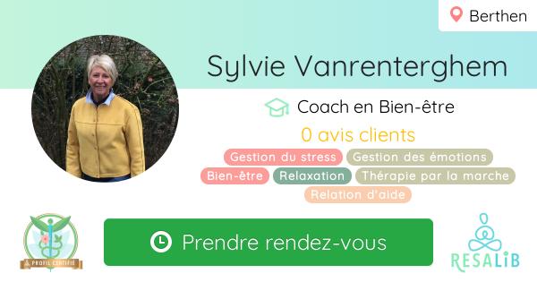 Prenez rendez-vous avec Sylvie Vanrenterghem