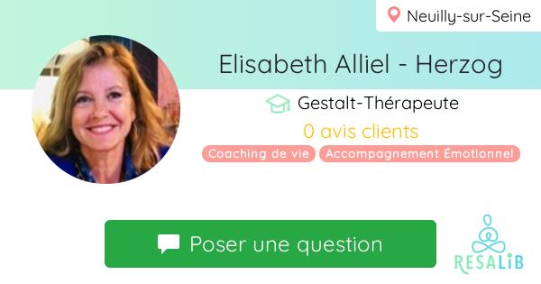 Consulter le profil de Elisabeth Alliel - Herzog sur Resalib l'annuaire des médecines douces et des thérapeutes
