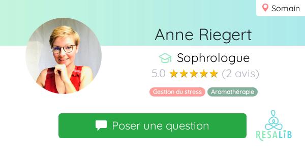 Prenez renez-vous avec Anne Riegert