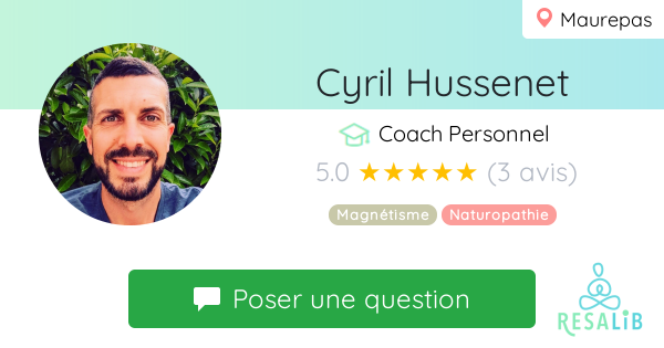 Consulter le profil de Cyril Hussenet sur Resalib l'annuaire des médecines douces et des thérapeutes