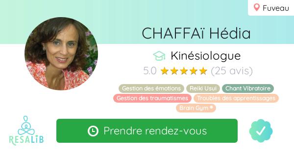 Consulter le profil de CHAFFA� H�dia sur Resalib l'annuaire des m�decines douces et des th�rapeutes