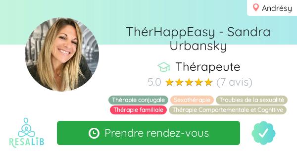 Consulter le profil de ThérHappEasy - Sandra Urbansky sur Resalib l'annuaire des médecines douces et des thérapeutes