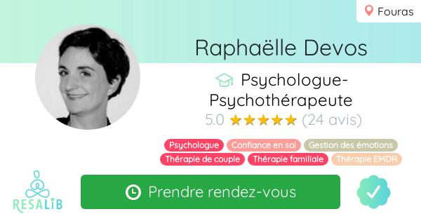 Consulter le profil de Raphaëlle Devos sur Resalib l'annuaire des médecines douces et des thérapeutes