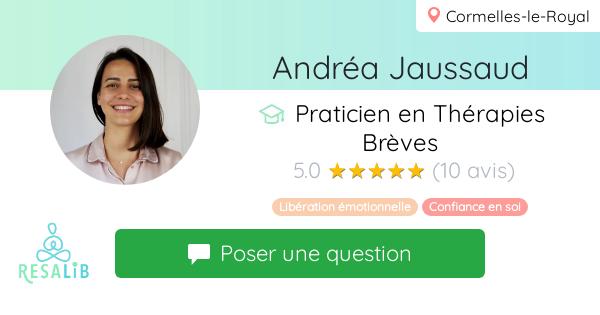 Consulter le profil de Andréa Jaussaud sur Resalib l'annuaire des médecines douces et des thérapeutes