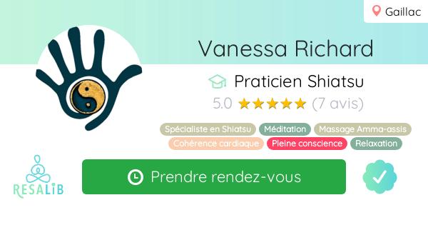 Consulter le profil de Vanessa Richard sur Resalib l'annuaire des médecines douces et des thérapeutes