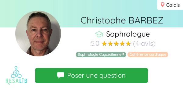 Consulter le profil de Christophe BARBEZ sur Resalib l'annuaire des médecines douces et des thérapeutes