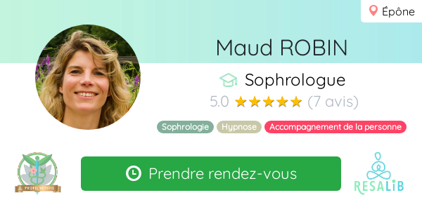 Consulter le profil de Maud ROBIN sur Resalib l'annuaire des médecines douces et des thérapeutes