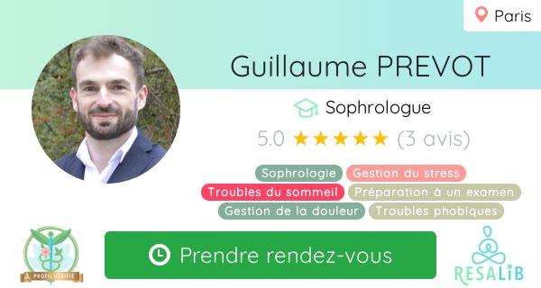Consulter le profil de Guillaume PREVOT sur Resalib l'annuaire des médecines douces et des thérapeutes