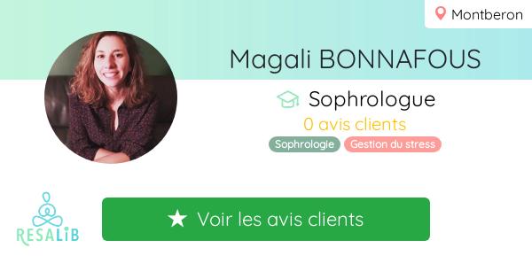 Consulter le profil de Magali BONNAFOUS  sur Resalib l'annuaire des médecines douces et des thérapeutes