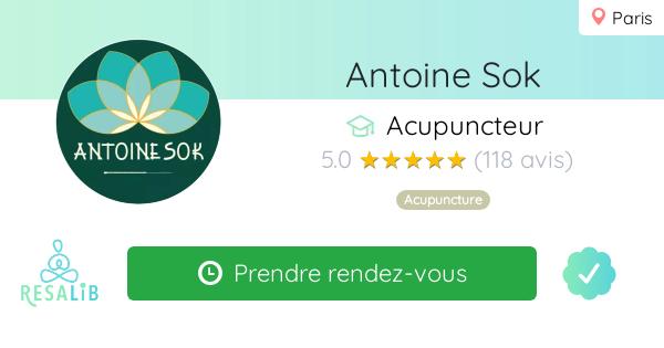 Consulter le profil de Antoine Sok  sur Resalib l'annuaire des médecines douces et des thérapeutes