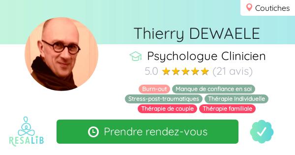Consulter le profil de Thierry DEWAELE sur Resalib l'annuaire des médecines douces et des thérapeutes