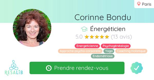 Consulter le profil de Corinne Bondu sur Resalib l'annuaire des médecines douces et des thérapeutes