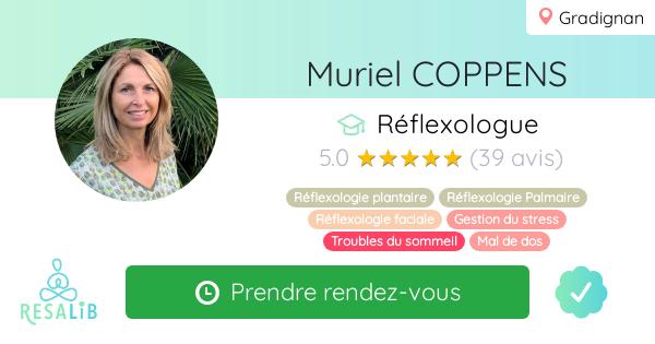 Consulter le profil de Muriel COPPENS sur Resalib l'annuaire des médecines douces et des thérapeutes
