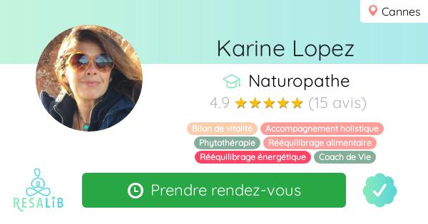 Consulter le profil de Karine Lopez sur Resalib l'annuaire des médecines douces et des thérapeutes