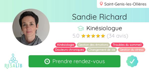 Consulter le profil de Sandie Richard sur Resalib l'annuaire des médecines douces et des thérapeutes