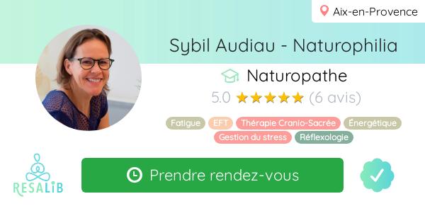 Consulter le profil de Sybil Audiau - Naturophilia sur sur Resalib : annuaire, référencement et prise de rendez-vous pour les Naturopathes