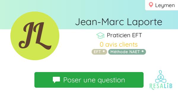 Prenez rendez-vous avec Jean-Marc Laporte