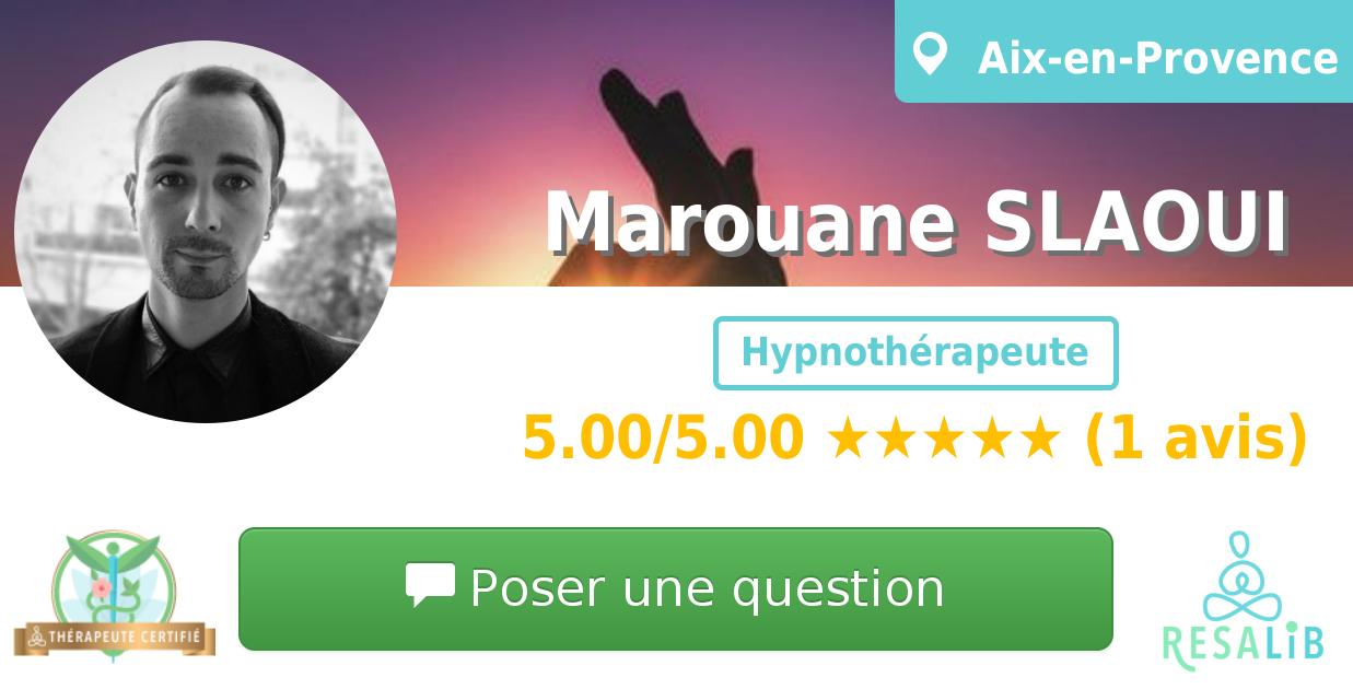Prenez rendez-vous avec Marouane SLAOUI