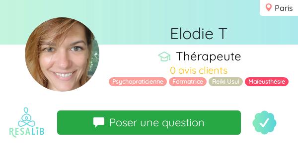 Consulter le profil de Elodie T