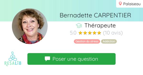 Consulter le profil de Bernadette CARPENTIER sur Resalib l'annuaire des médecines douces et des thérapeutes