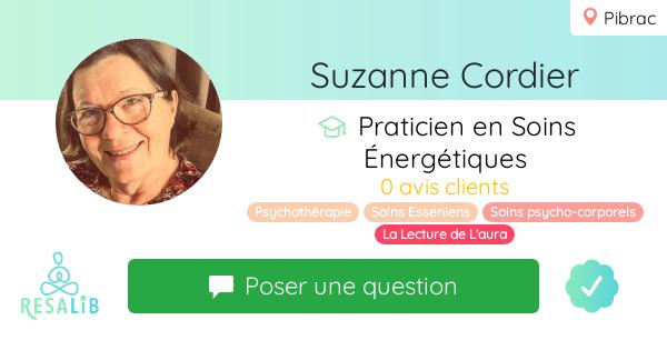 Prenez rendez-vous avec Suzanne Cordier