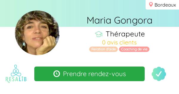 Prenez rendez-vous avec Maria Gongora