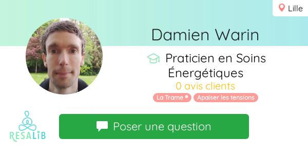 Prenez rendez-vous avec Damien Warin