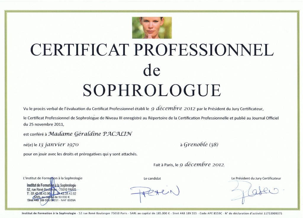 photo diplome LBP SOPHROLOGIE
